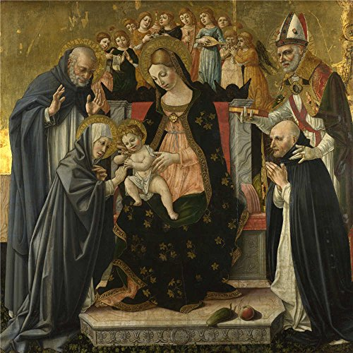 Polyster Canvas ,the Amazing Art Decorative Prints On Canvas Of Oil Painting 'Lorenzo D'Alessandro Da Sanseverino The Marriage Of Saint Catherine Of Siena ', 18 X 18 Inch / 46 X 46 Cm Is Best For Garage Decoration And Home Decor And Gifts