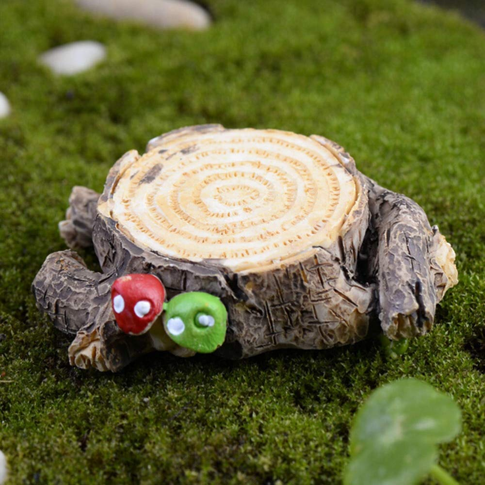 Accessories For - 1pcs 2 Sizes Resin Crafts Stump Micro Landscape Small Ornament Scenery Bonsai Gardening - Strollers Ninja Tablet Braids Coffee Beach Puppies Jeep Cannon Vacuum Young Ukulel