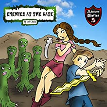 Enemies at the Gate: Four Warriors and Their Nemeses: Adventure Stories for Kids Audiobook by Jeff Child Narrated by John H Fehskens