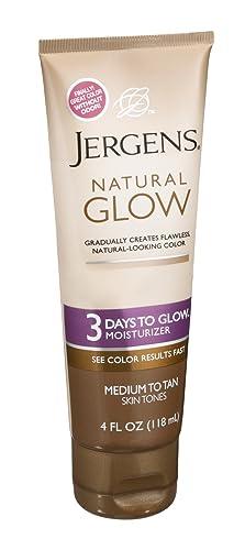Jergens Natural Glow 3 Days to Glow Moisturizer, Medium to Tan 4 oz Pack of 6
