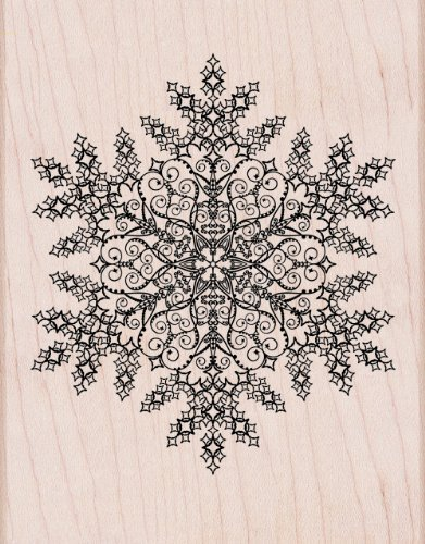 Hero Arts Rubber Stamps S5605 Dazzling Snowflake Woodblock (Holiday Snowflake Gift Card)