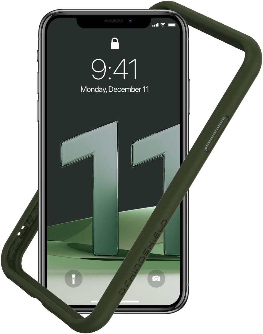 RhinoShield Bumper Case Compatible with [iPhone 11 / XR] | CrashGuard NX - Shock Absorbent Slim Design Protective Cover 3.5M / 11ft Drop Protection - Camo Green