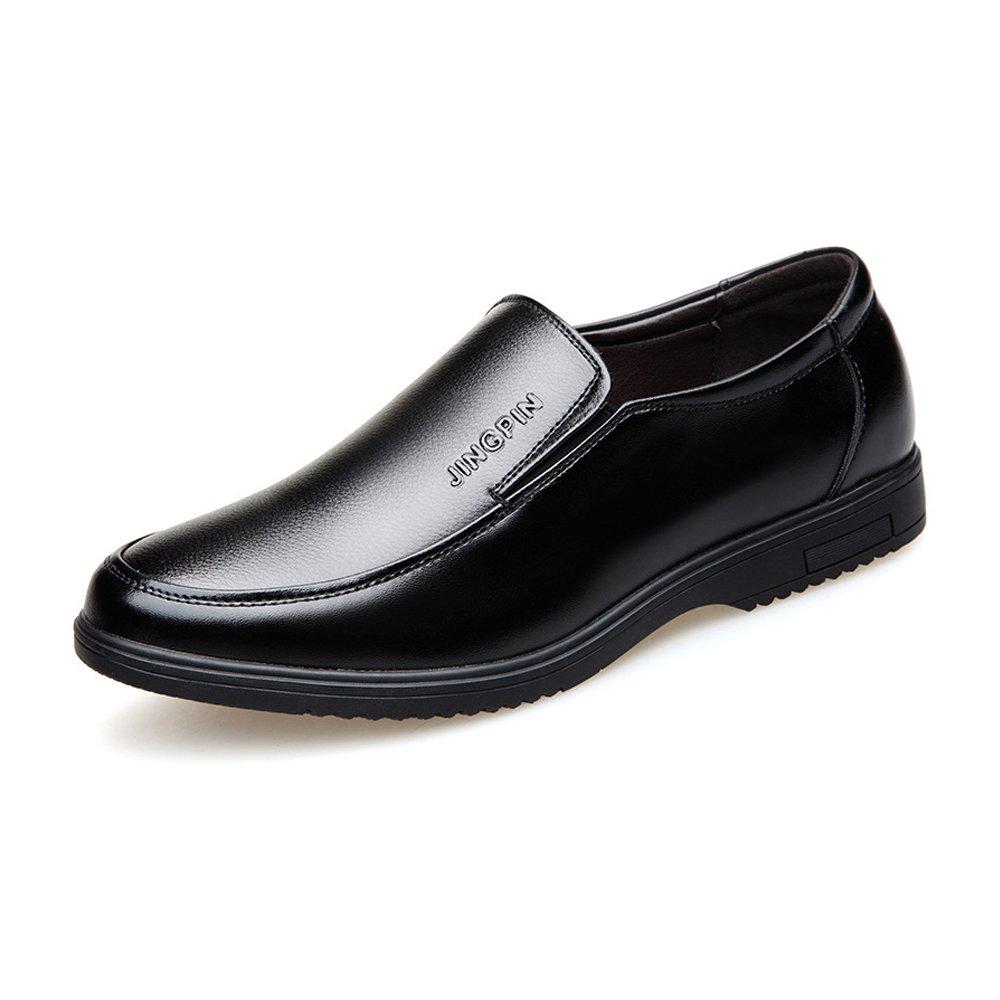 Mocasines Slip-on de los Hombres Zapatos de Cuero de la PU Negocios Casual Soft Sole Pisos Oxfords ! 44 EU|Negro