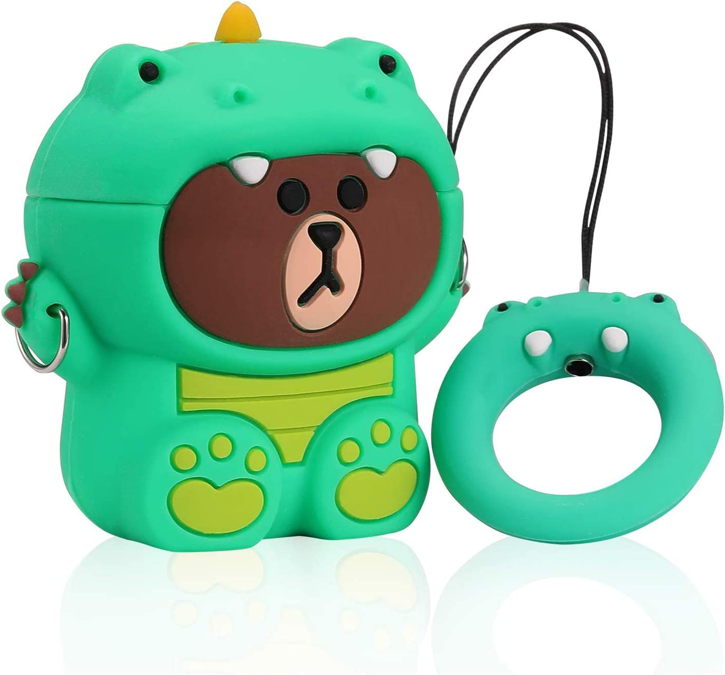 Amazon Com Joyleop Dinosaur Green Case Compatible With Airpods 1