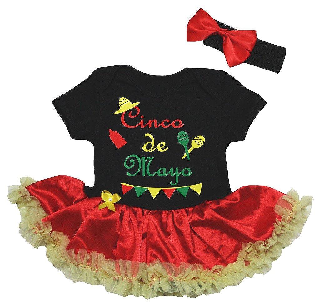 Petitebella DRESS ベビーガールズ 3 - 6 Months Black / Red Yellow B07DPMG764