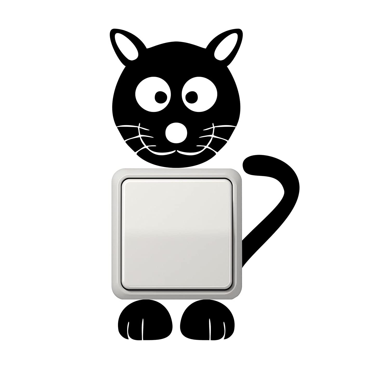 Katze Aufkleber Lichtschalter Aufkleber Wandtattoo: Amazon.de: Auto