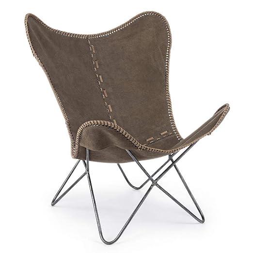 ARREDinITALY - Juego de 2 sillones Gaucho con Estructura de ...