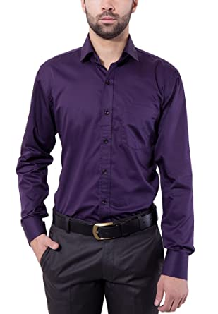4556989b21b Formal Shirt Dark Purple Color Slim Fit for Men by Tag & Trend: Amazon.in:  Clothing & Accessories