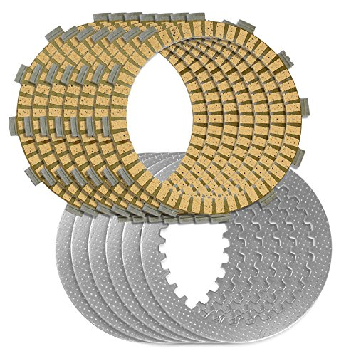 Caltric CLUTCH FRICTION & STEEL PLATES Fits YAMAHA XVS650 V-STAR 650 CLASSIC 1998-2010 - Friction Clutch