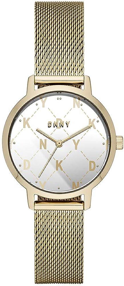 DKNY - Reloj de cuarzo para mujer con correa de acero inoxidable, color dorado, 14 (modelo: NY2816)