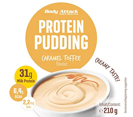 Amazon.com: Body Attack Caramel Toffee Cream 300g Protein Pudding: Health & Personal Care