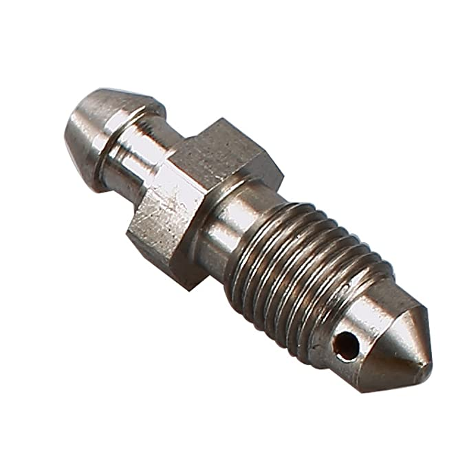 Stainless Steel Metric Bleed Nipple Screw 4AN AN4 Front Brake Caliper Clutch Fitting Natural