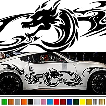 Amazoncom Dragon Tribal Car Sticker Car Vinyl Side Graphics Wa - Stickers for the car