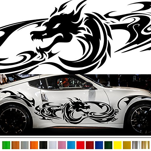 Dragon Tribal car Sticker car vinyl side graphics wa15 car vinylgraphic Car Custom Stickers Decals 【8 Colors To Choose From】 JAPAN QUALITY Fast and Furious Lightning Car styling