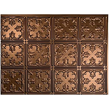 Fasade Easy Installation Traditional 10 Oil Rubbed Bronze Backsplash Panel For Kitchen And Bathrooms 18 X 24 Panel
