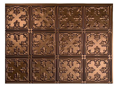 Fasade Easy Installation Traditional 10 OilRubbed Bronze Backsplash Panel for Kitchen and Bathrooms 18quot x 24quot Panel