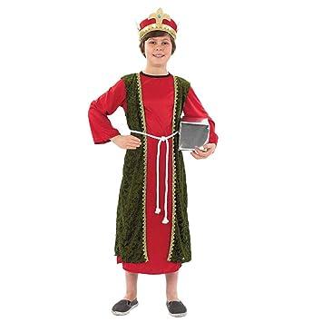 Fun Shack Rojo Rey Mago Disfraz para Niños y Niñas - S: Amazon.es ...