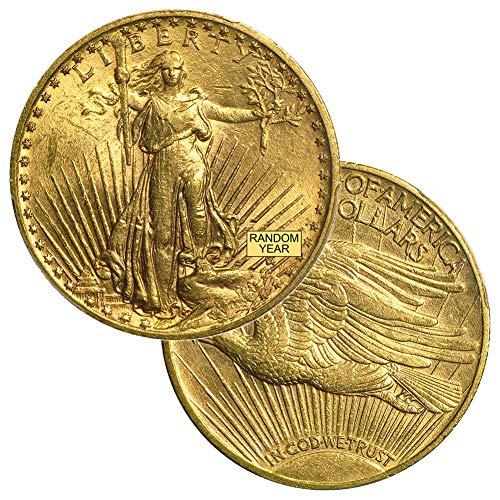 1907-1933 (Random Year) Gold Saint Gaudens Coin $20 Brilliant Uncirculated