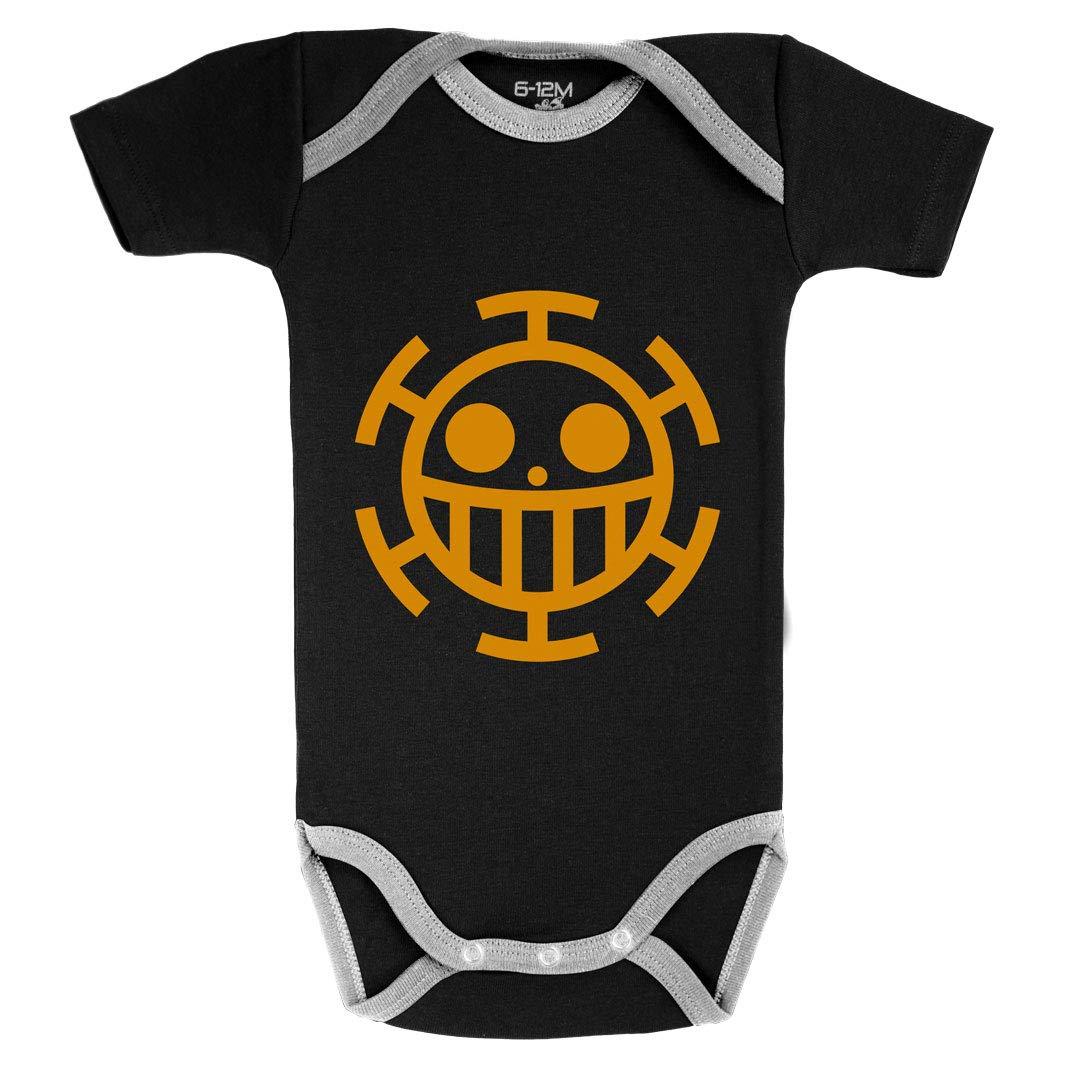 One Piece /™ Coton Body B/éb/é Manches Courtes Baby Geek Signe Traffalgar Law Licence Officielle Noir Parent
