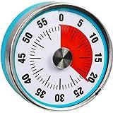 "BRAPILOT 3"" Magnetic Kitchen Timer Visual Analog 60 Minute Countdown for Cooking Teacher Classroom Meeting Kids Children Offi"