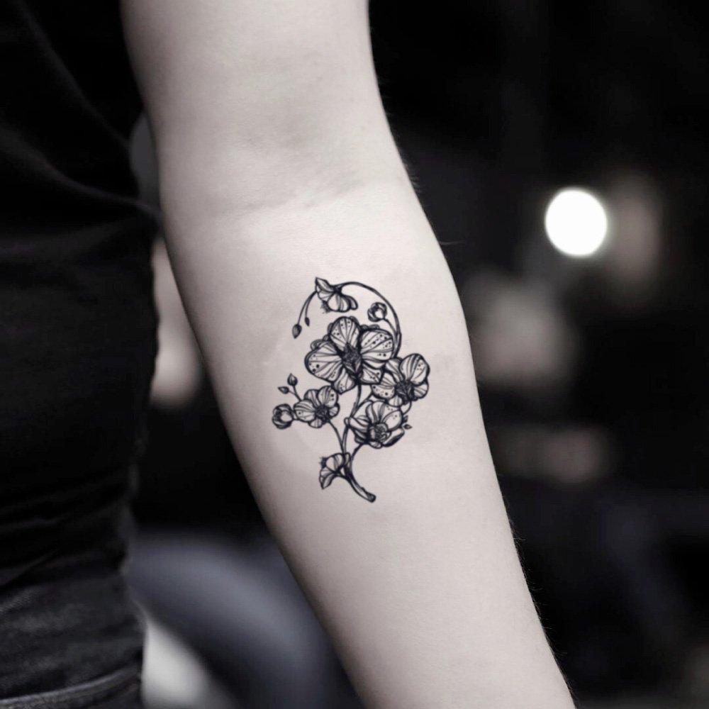 Tatuaje Temporal de Orquídea (2 Piezas) - www.ohmytat.com: Amazon ...