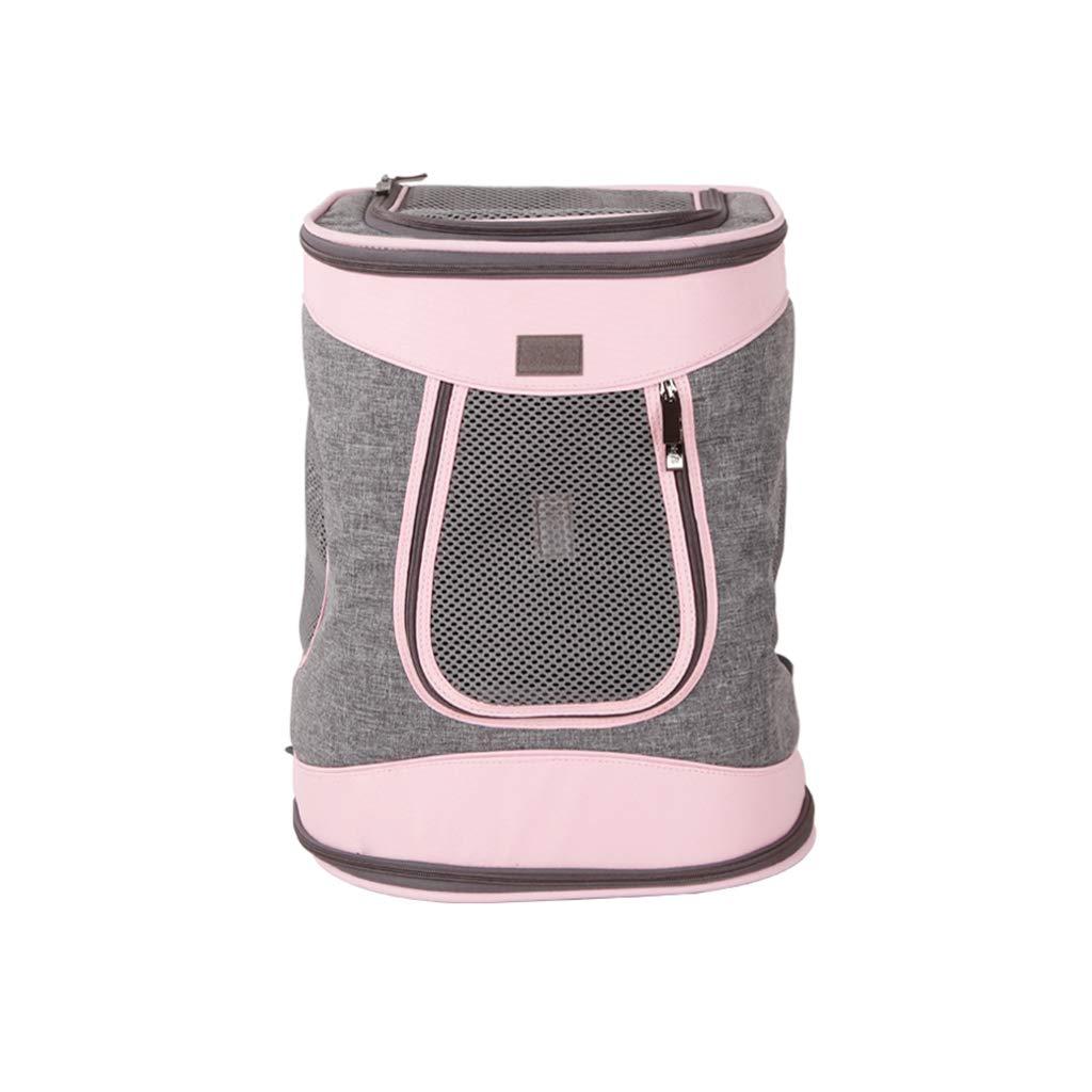 Pink FJH Pet Backpack Out Of The Shoulder Bag Dog Backpack Cat Backpack Out Of The Carryon Bag Cat Bag Travel Bag (color   Pink)
