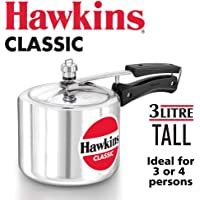 HAWKINClassic CL15 1.5-Liter New Improved Aluminum Pressure Cooker, Small, Silver