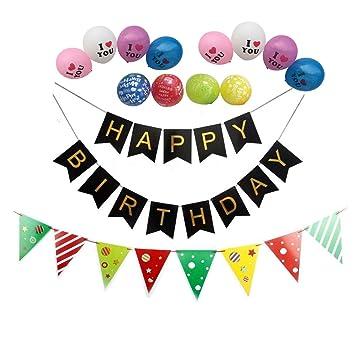 oHeng Feliz Cumpleaños Banner Decoraciones de Fiesta Niños ...