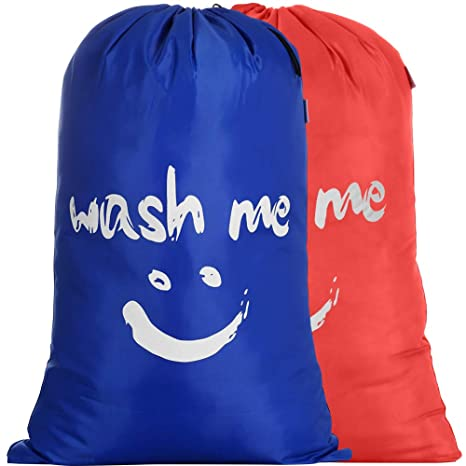 IHOMAGIC Bolsas para la Colada Plegables Set de 2 Cesto para Ropa Sucia Plegable 110L Saco de lavanderia Viajes para Baño con Organizador Lavandería ...