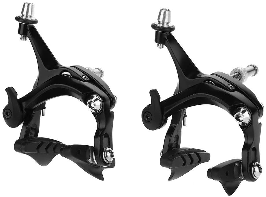 Tbest Juego de Frenos de Bicicleta de Pinza, 1 par Pinzas Freno para Bici Bicicleta de Carretera de montaña BMX MTB Forma de U de la Bicicleta Mecánico de Frenos de Doble pivote Piezas de reparación