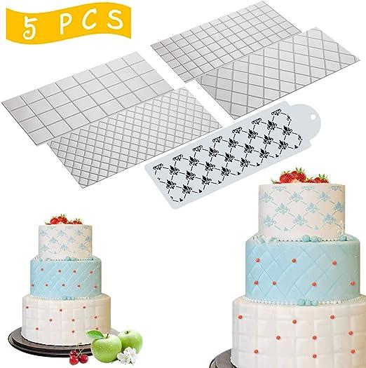 Plastic Impression Embosser texture Mat Fondant icing Cake Decorating