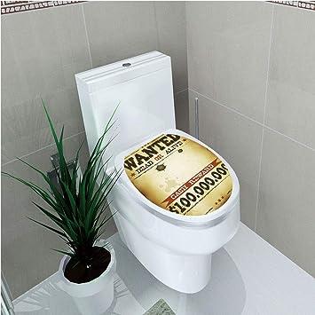 Awesome Amazon Com Toilet Sticker Western Old Wanted Placard Creativecarmelina Interior Chair Design Creativecarmelinacom