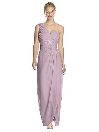a3a85b5b64ce Amazon.com: Dessy Style 2905 Floor Length Chiffon Shirred Skirt Formal Dress  - One Shoulder: Clothing