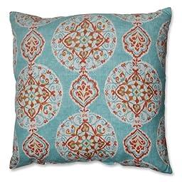 Pillow Perfect Mirage Medallion Floor Pillow, 24.5-Inch