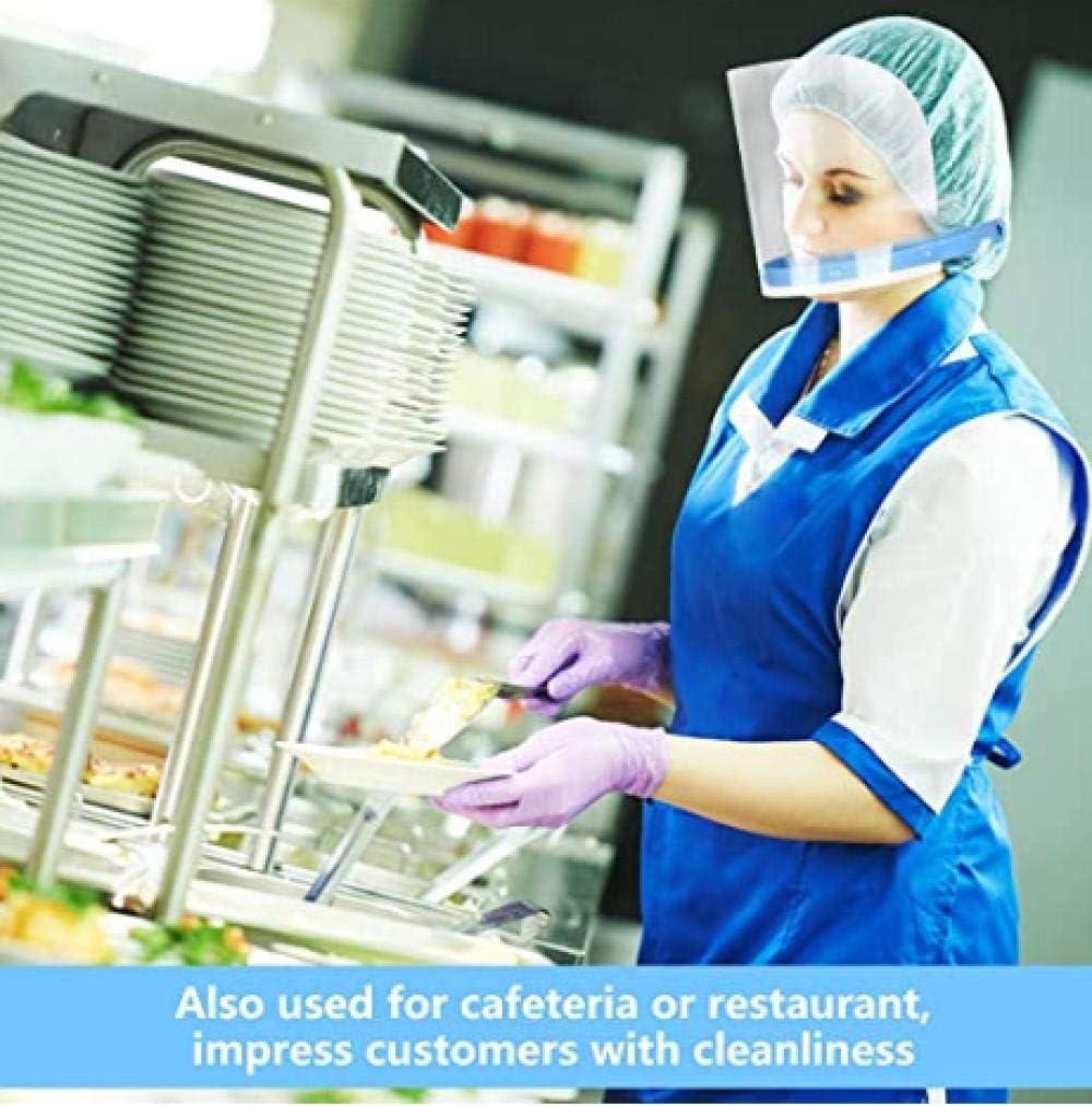 Film de Protection r/églable en 10 Parties /Écrans faciaux Amovibles pour la Cuisine de Coiffure Ultra l/éger Protection faciale jetable en Plastique Transparent Protection int/égrale int/égral