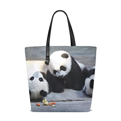 8b0422a2e7b3 Amazon.com  Animal Panda Blackandwhite Fluffy Small Adorable Cute Tote Bag  Purse Handbag For Women Girls  Shoes