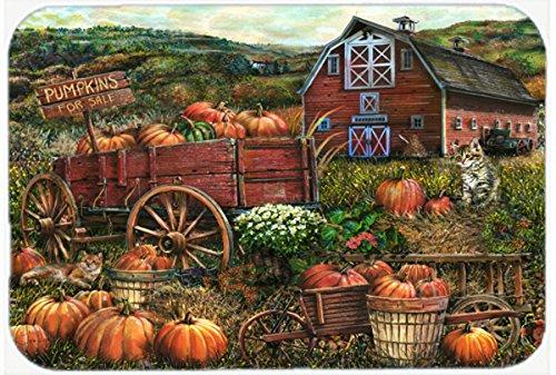 Caroline 's Treasures ptw2008jcmt Pumpkin Patch and Fallファームキッチンやバスマット、24 by 36インチ、マルチカラー   B01607J1DS
