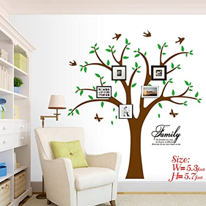 Amazon Com Ares Family Tree Wall Decal With Butterflies And Birds