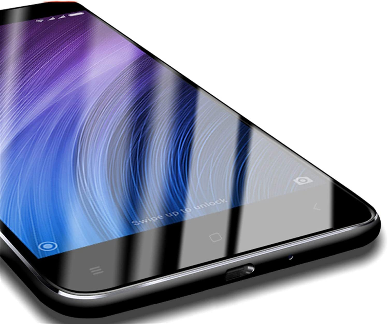PmseK Protector de Pantalla,Vidrio Templado,Tempered Glass For Redmi 4X Xiomi Redmi Note 4 4X 4A Glass Screen Protector Full Cover 9H Glass Film For For Xiomi MI 5S Note 5A 16G Black