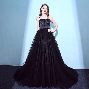 Correas Espaguetis Negras Vestidos De Novia De La Boda Vestidos De Baile Cóctel por La Noche