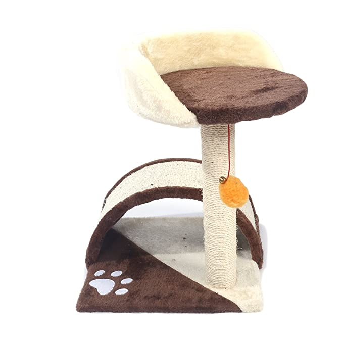Amazon.com : Home_Store Cat Tree Cat Condo Tower Large Beds Polyester Material, Feline-Friendly Soft Plush with Hemp Rope Kitty Furniture Playhouse for ...