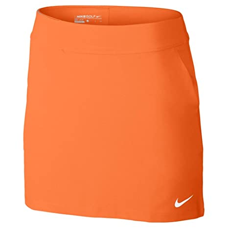 """Nike W Nk Dry Kt 16.5"""", Falda de Tenis para Mujer, Naranja ("""