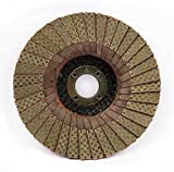 4 Inch Diamond Flap Disc 120 Grit Sanding Wheel for Ceramic Glass Rubber Plastic Concrete Hard Material Sanding