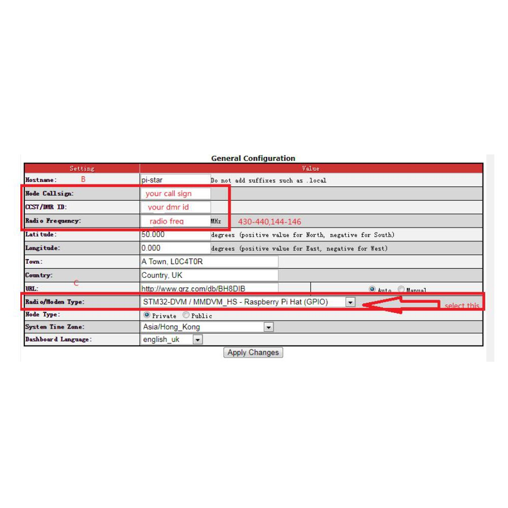 TOOGOO For MMDVM hotspot Support P25 DMR YSF + raspberry pie + OLED +  Antenna + Case