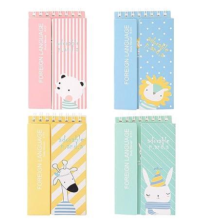 Notebooks Mini Kawaii Animal Panda Cat Notebook Cartoon Note Book Small Pocket Book School Supplies For Kids Korean Papelaria