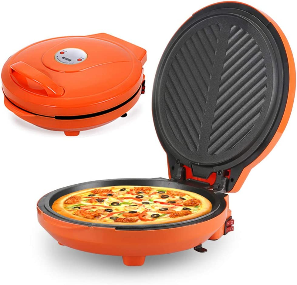 Multifunctional Electric Griddle 220V 1200W,Black Diameter Intelligent Pancake Muffin Pizza Machine BBQ Tool for 2-3 People