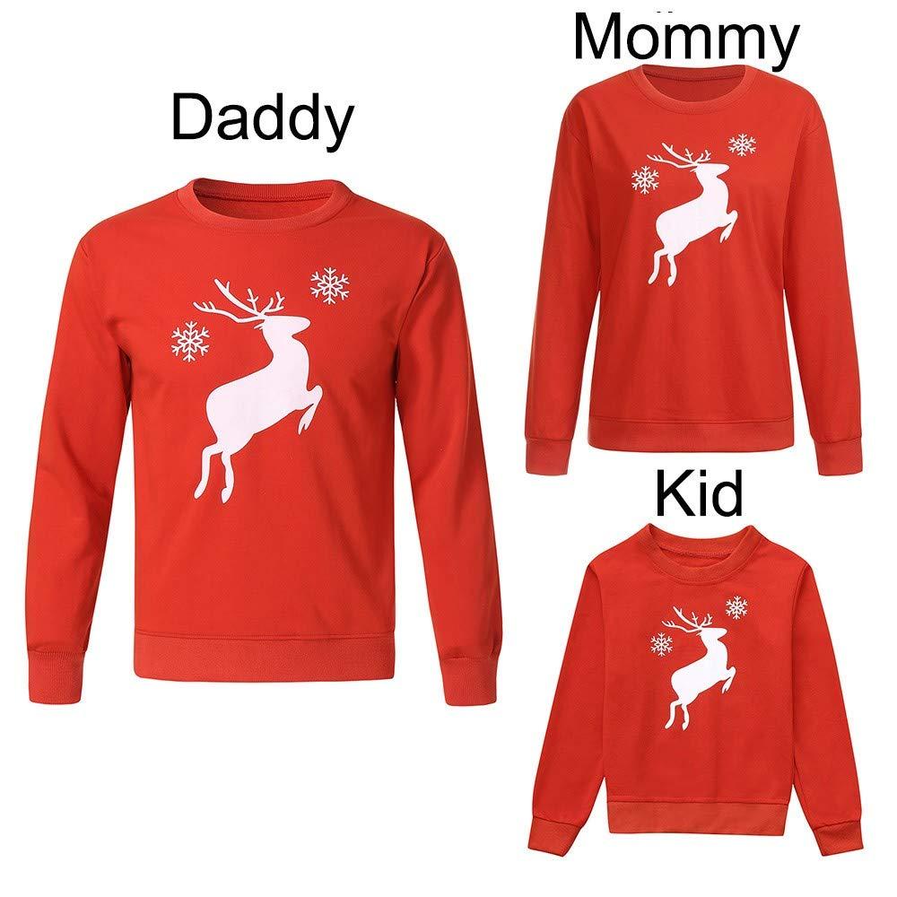 Ximandi Christmas Sweatshirt for Family Family Christmas Blouse Mom Dad and Me