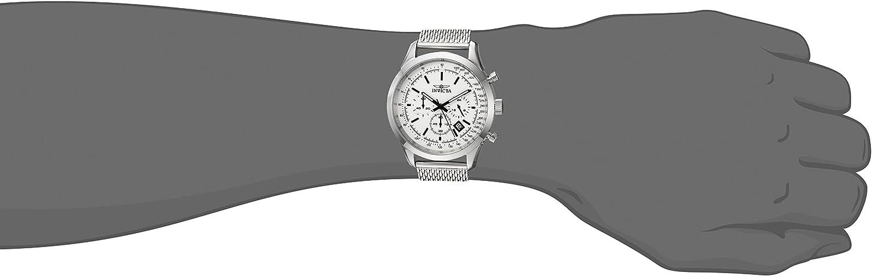 Invicta Men s Speedway Quartz Watch with Stainless-Steel Strap, Silver, 22 Model 25222