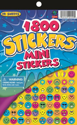 Mini Reward Stickers - Eureka Mini Stickers for Teachers and Kids, 1800 pcs