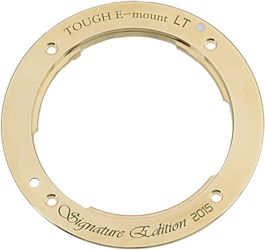 APS-C /& Full Frame such as NEX-5, NEX-7 /& a7 Light Tight Replacement Lens Mount for Sony NEX /& E-mount Camera Bodies A Distinctive Brass The TOUGH E-Mount Signature Edition LT from Fotodiox Pro